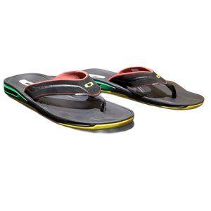Men's OAKLEY 8.0  Rasta Colors Flip-Flops (Size 8)